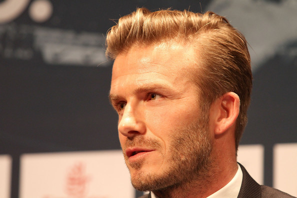 More Pics of David Beckham Short Side Part (5 of 30) - David Beckham Lookbook - StyleBistro