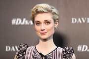 Elizabeth Debicki wore her short hair in a chicly tousled style at the David Jones Autumn 2017 collections launch.