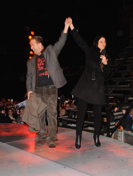 Davina McCall Trenchcoat [entertainment,performance,event,fashion,performing arts,performance art,public event,dance,fashion design,human body,celebrity big brother 2010,house,borehamwood,england,eviction,stephen baldwin]