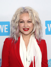 Cyndi Lauper made an appearance at WE Day California rocking teased, rainbow-dyed hair.
