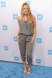 Colbie Caillat was easy-breezy in a gray tie-waist jumpsuit at the WE Day celebration dinner.