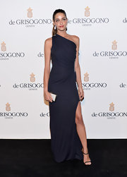 Ana Beatriz Barros exuded timeless elegance in a black one-shoulder gown at the de Grisogono party.