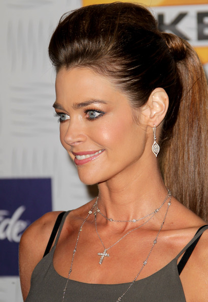 Denise Richards Dangling Diamond Earrings