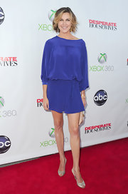 Brenda Strong slipped on a pair of champagne satin slingbacks for the 'Desperate Housewives' series finale.