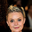 Gail Porter Wears a Silver Skull Necklace