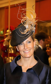 Sophie Countess of Wessex's decorative hat has some serious height on one side.