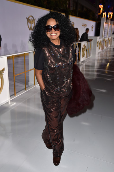 Diana Ross Embellished Top [the hunger games: mockingjay - part 1,fashion model,fashion,runway,flooring,vision care,catwalk,eyewear,sunglasses,fashion show,haute couture,diana ross,nokia theatre l.a. live,california,los angeles,lionsgate,premiere]