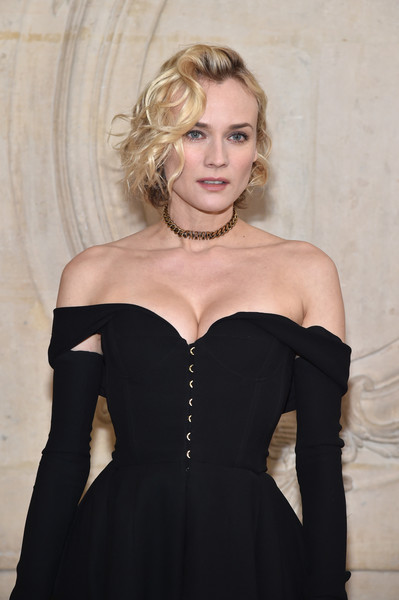 Diane Kruger Gold Choker Necklace