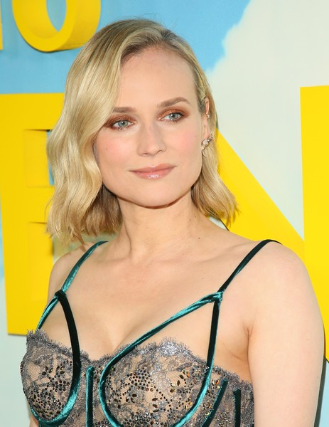 Diane Kruger Short Wavy Cut [welcome to marwen,hair,undergarment,brassiere,clothing,lingerie,blond,hairstyle,yellow,long hair,arrivals,diane kruger,arclight hollywood,california,universal pictures,dreamworks pictures premiere of ``welcome to marwen,premiere]