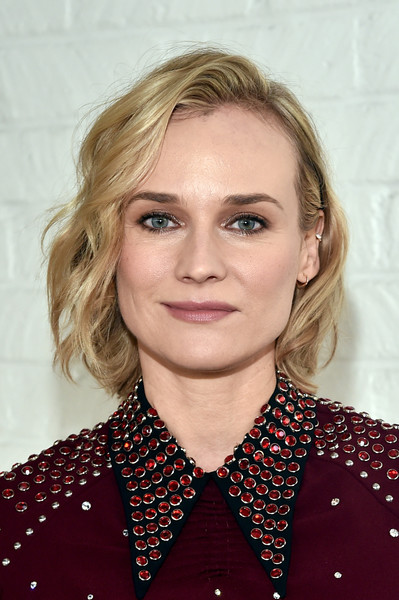 Diane Kruger Short Wavy Cut [indie contenders roundtable,hair,eyebrow,blond,beauty,human hair color,hairstyle,chin,fashion model,layered hair,forehead,contenders,diane kruger,indie,hollywood roosevelt hotel,california,audi,afi fest,afi fest 2017,roundtable]