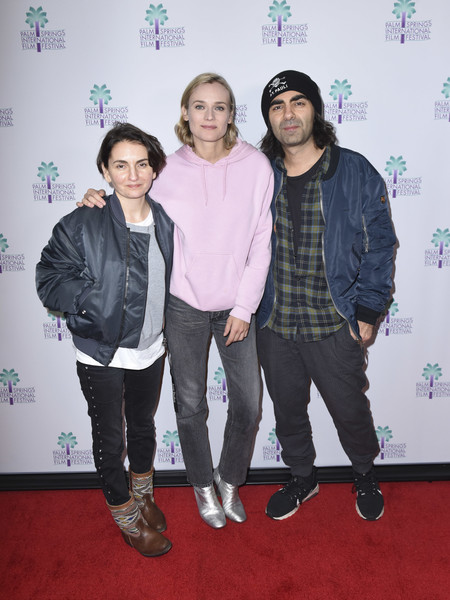 Diane Kruger Hoodie [in the fade,event,carpet,fashion design,fatih akin,nurhan sekerci-porst,diane kruger,palm springs,california,screening,palm springs international film festival monday film screenings,palm springs international film festival]