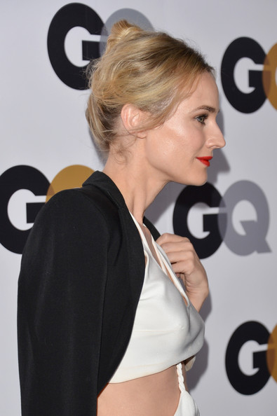 Diane Kruger Classic Bun [hair,hairstyle,shoulder,blond,beauty,chin,arm,ear,long hair,carpet,arrivals,diane kruger,california,los angeles,chateau marmont,gq men of the year party,gq men of the year party]