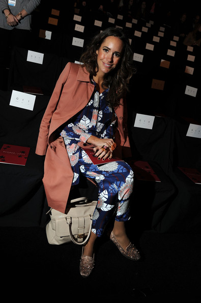 Louise Roe front row at Fashion Week
