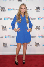 Kristin Chenoweth rocked a pair of patent leather Mary Janes in a subtle dark tortoise shell color.
