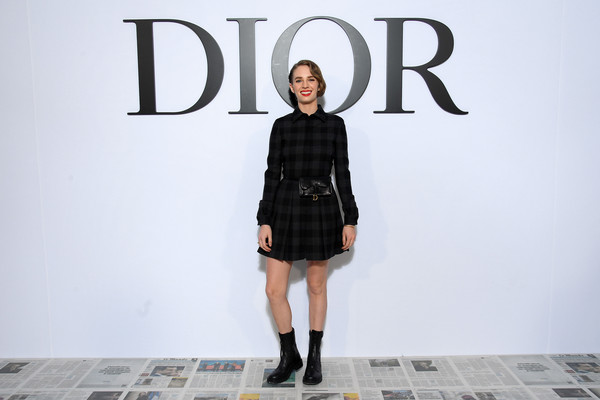 Maya Hawke toughened up her frock with black combat boots.
