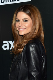 Maria Menounos looked gorgeous with her lush, center-parted locks during the DirecTV Super Saturday Night.