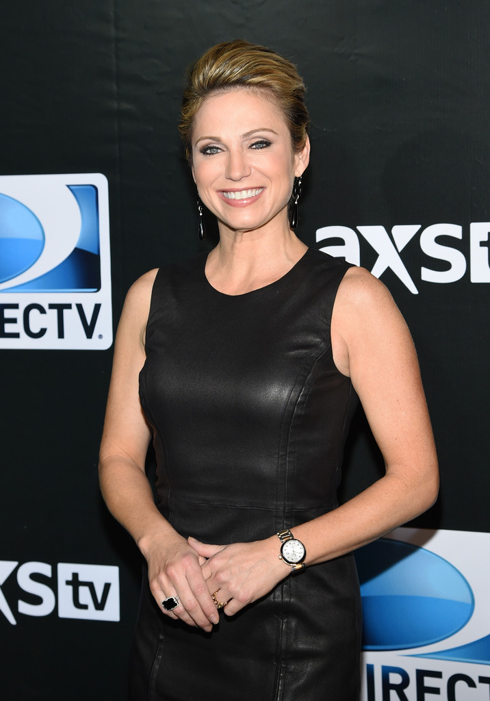 More Pics Of Amy Robach Leather Dress 7 Of 8 Amy