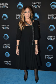 Sarah Jessica Parker opted for a simple 3/4-sleeve LBD when she attended the DirecTV Now launch.