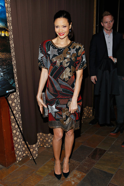 More Pics of Thandie Newton Metallic Clutch (1 of 26) - Metallic Clutch Lookbook - StyleBistro