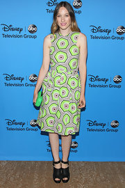 Sophie Lowe opted for a bold and brilliant geometric A-line for the 2013 Summer TCA Tour.