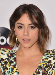 Chloe Bennet wore her hair in cool asymmetrical waves during the Disney Group's Summer TCA Press Tour.
