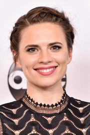 Hayley Atwell kept it youthful with this milkmaid braid at the Disney ABC Summer TCA Tour.