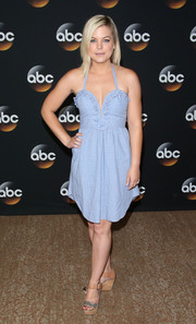 Kirsten Storms looked very summery in this light-blue halter dress during the TCA Summer Press Tour.