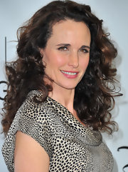 Andie MacDowell wore her long locks in a voluminous array of lovely curls during the TCA Winter Press Tour.