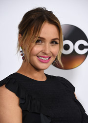 Camilla Luddington opted for a messy-sexy updo when she attended the Disney ABC Television Group Winter TCA Tour.