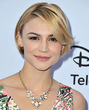 Samaire Armstrong chose a sleek and straight 'do for her look at the Disney Media Upfront in Burbank.