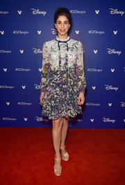 Sarah Silverman went the ladylike route in a long-sleeve floral frock by Ted Baker when she attended Disney's D23 Expo 2017.