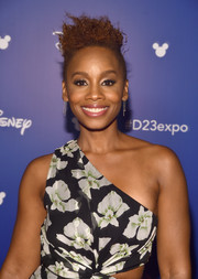 Anika Noni Rose rocked a messy side-shaved 'do during Disney's D23 Expo 2017.