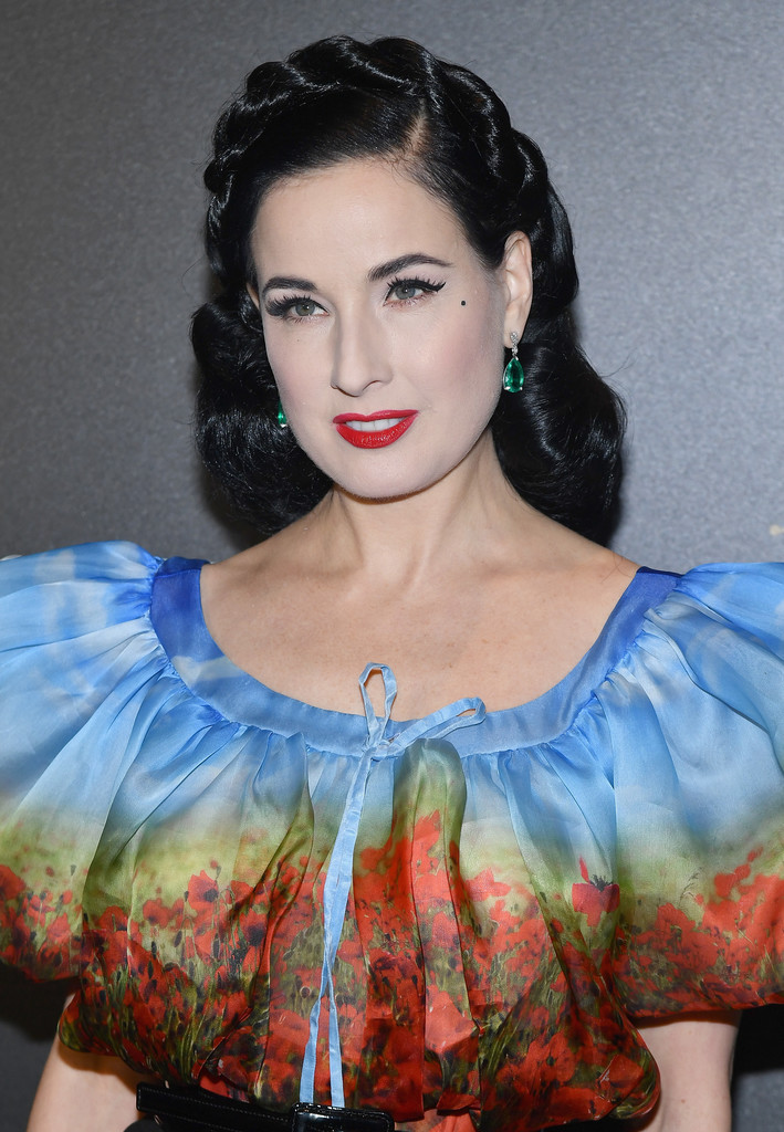 The Looks of Dita Von Teese in Paris Fashion Week