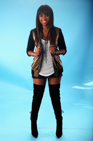 More Pics of Jennifer Hudson Over the Knee Boots (1 of 6) - Jennifer Hudson Lookbook - StyleBistro