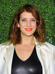 Kate Walsh wore casual loose waves when she attended the Domino x Nathan Turner event.