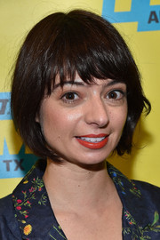 Kate Micucci sported a cute bob with choppy bangs at the SXSW screening of 'Don't Think Twice.'