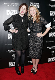Kate McKinnon looked very chic in a black lace shirtdress during the 'Delivery Man' screening in NYC.