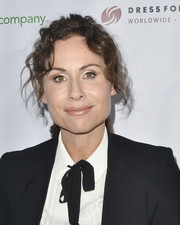 Minnie Driver looked very girly wearing this ponytail with curly tendrils at the Shop for Success VIP event.