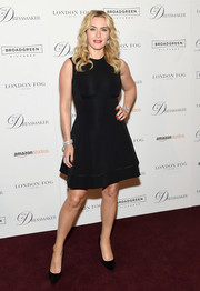 Kate Winslet stuck to her minimalist style with this fit-and-flare LBD at the New York screening of 'The Dressmaker.'
