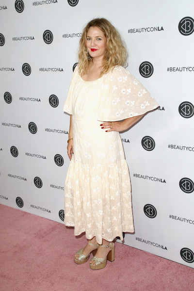 Drew Barrymore Embroidered Dress