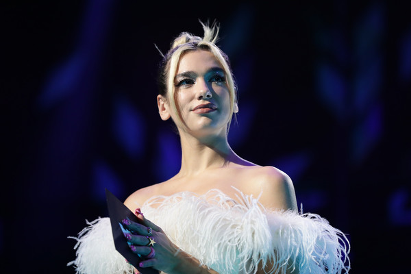 Dua Lipa Star Ring [fashion,beauty,lady,performance,model,event,dress,fashion design,performing arts,performance art,aria award for album of the year,australia,sydney,dua lipa,the star,aria awards 2019 - show,aria awards]