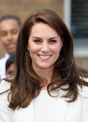 Kate Middleton accessorized with a pair of triple-hoop earrings by Mirabelle.