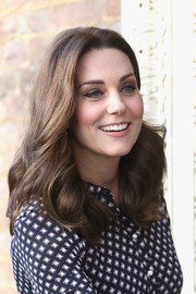 Kate Middleton sported her signature bouncy curls while visiting the Foundling Museum.