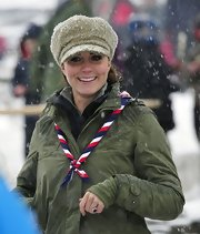 The Duchess of Cambridge wasn't afraid of a little snow when she had a stylish wool cap like this.