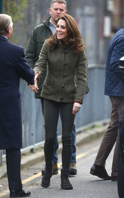 For her footwear, Kate Middleton chose a pair of See by Chloe hiking boots.