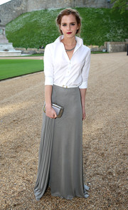 Emma Watson elevated the crisp white button-down to glam proportions when she wore this Ralph Lauren number to the Royal Marsden celebration.