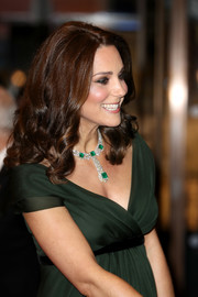 Kate Middleton stuck to her signature mid-length curls when she attended the EE British Academy Film Awards.
