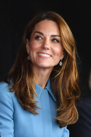 Kate Middleton looked stylish with her long, layered cut at the naming ceremony for the RSS Sir Richard Attenborough.