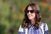 Kate Middleton looked lovely with her shoulder-length curls while touring the Taj Mahal.