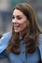 Kate Middleton sported a loose hairstyle with bouncy ends while visiting CineMagic in Northern Ireland.